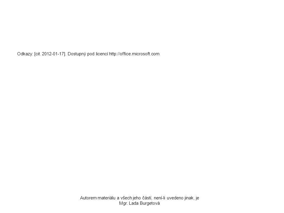 Odkazy: [cit. 2012-01-17]. Dostupný pod licencí http://office